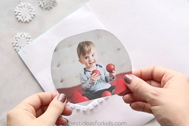 Add Photo Snow Globe Card