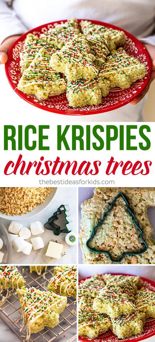 Christmas Rice Krispies Christmas Trees