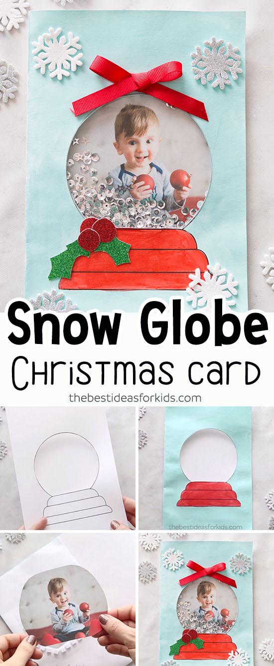 DIY Handmade Snow Globe Christmas Card