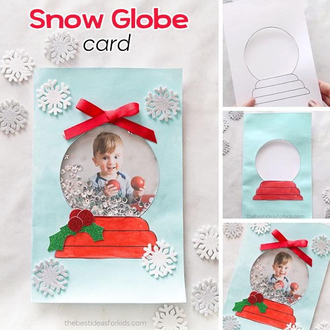 Handmade Snow Globe Card