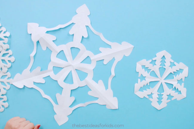 How to Make Paper Snowflakes with Kids