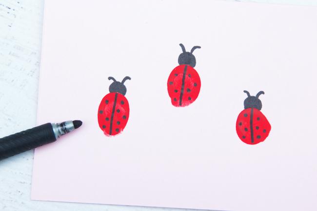 Ladybug Fingerprint Card