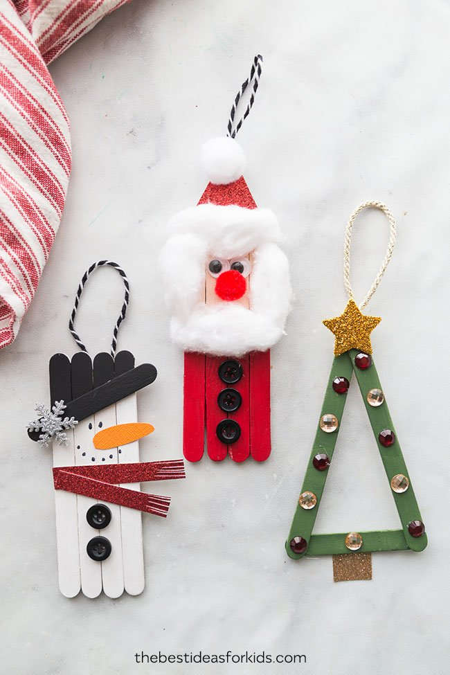 Lollipop Stick Christmas Decorations.Popsicle Stick Christmas Crafts The Best Ideas For Kids