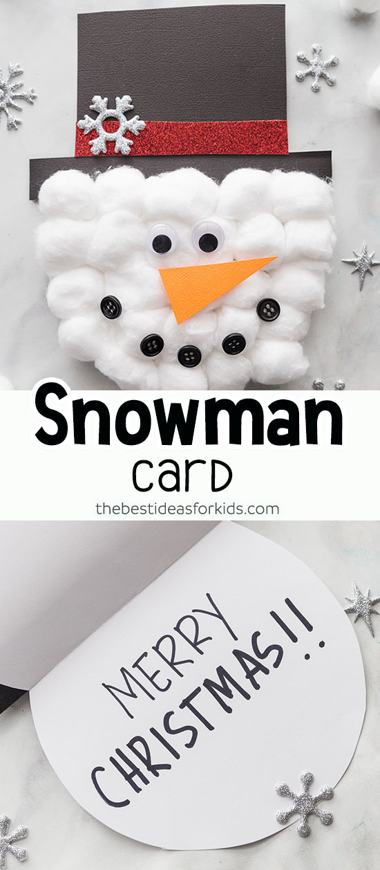 Snowman Card With Printable Template