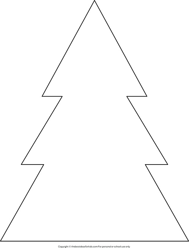 photo about Free Printable Christmas Tree Template named Xmas Tree Define - The Suitable Suggestions for Small children