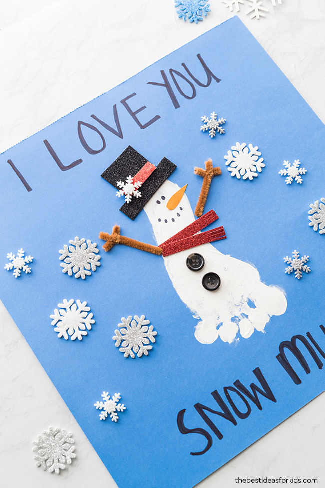 Footprint Snowman Craft