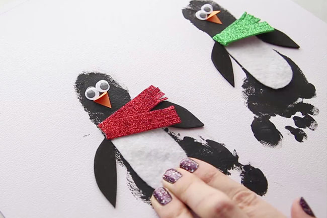 Glue on Penguin Scarf