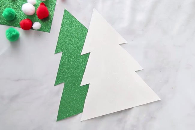 Glue to Cardboard Christmas Tree