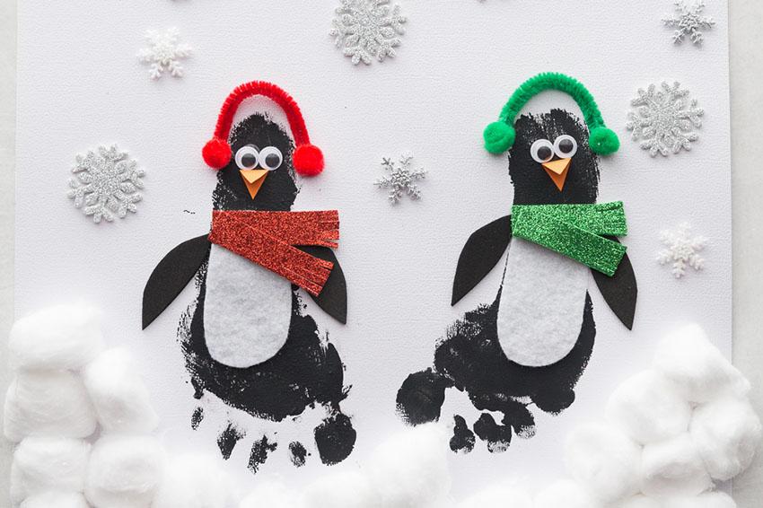 Penguin Christmas Cards Footprint.Penguin Footprint The Best Ideas For Kids