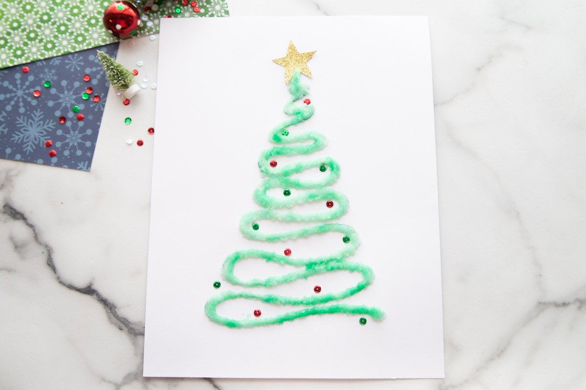 Salt Painted Christmas Tree The Best Ideas For Kids