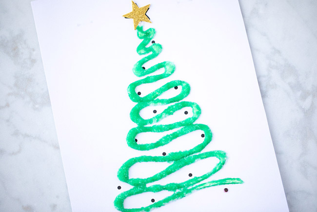 Salt Painting Christmas Activity