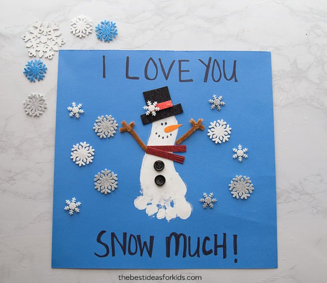 Snowman Footprint Craft