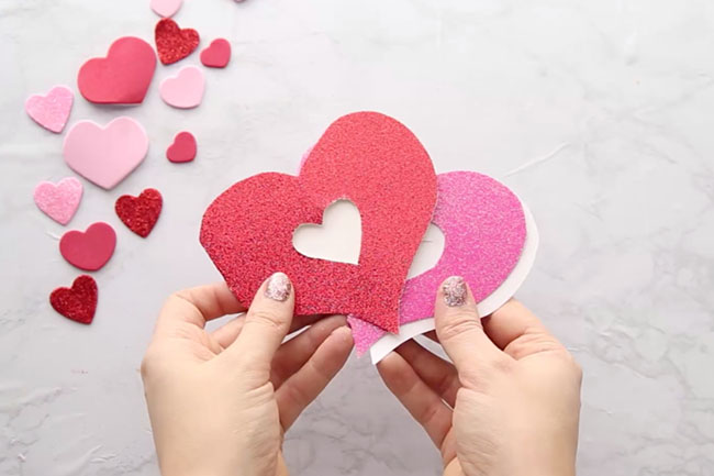 Cut out Heart Card Template