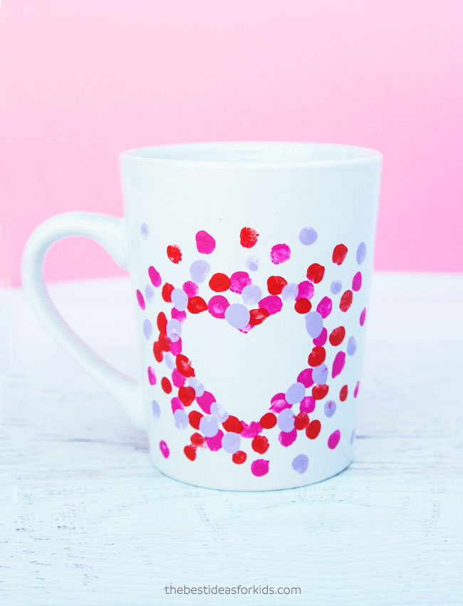DIY Fingerprint Heart Mug