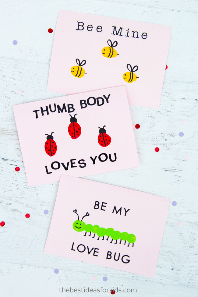 DIY Valentine Fingerprint Cards