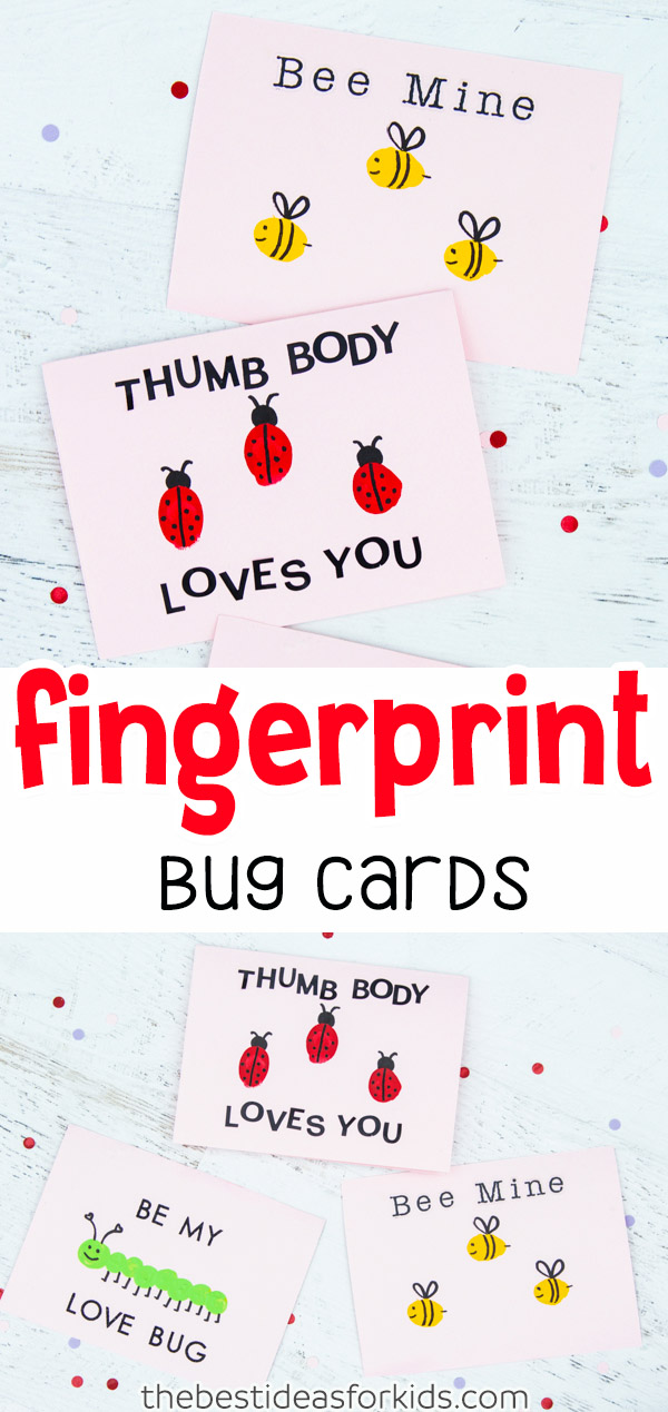 Fingerprint Bug Cards Craft