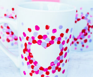 Fingerprint Heart Mug