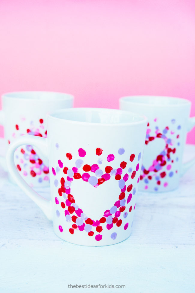 Fingerprint Heart Mug Craft
