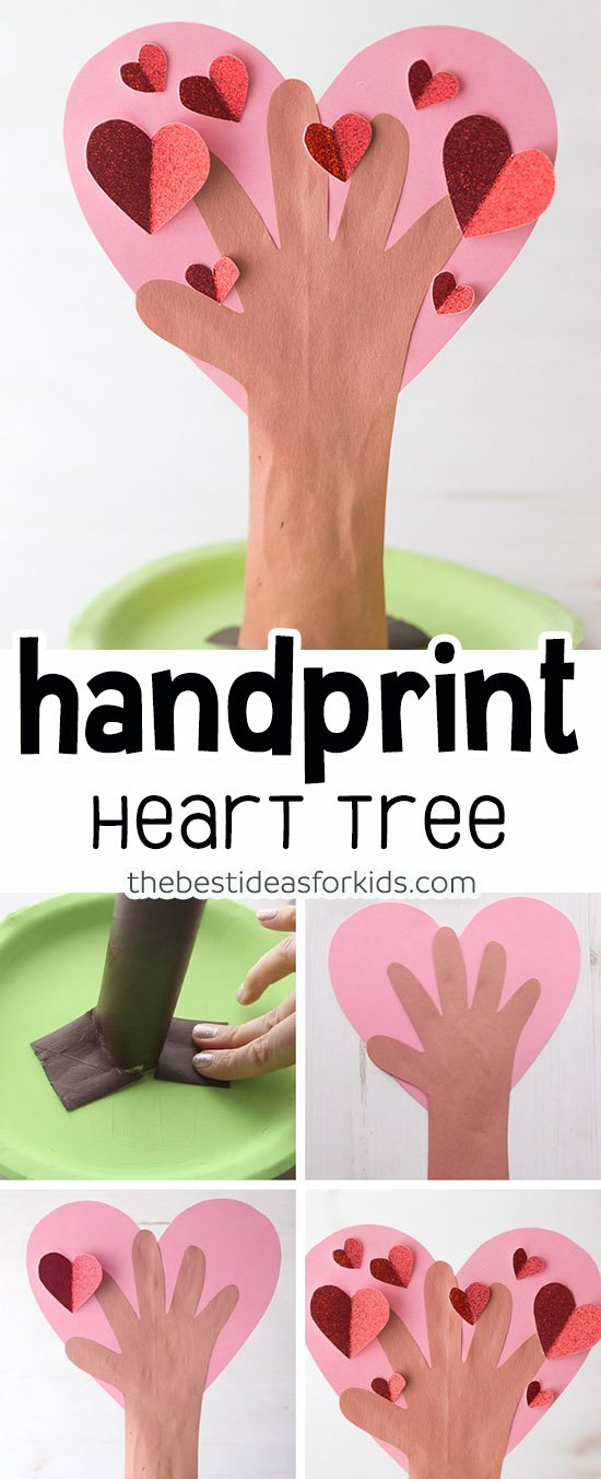Heart Handprint Tree Craft