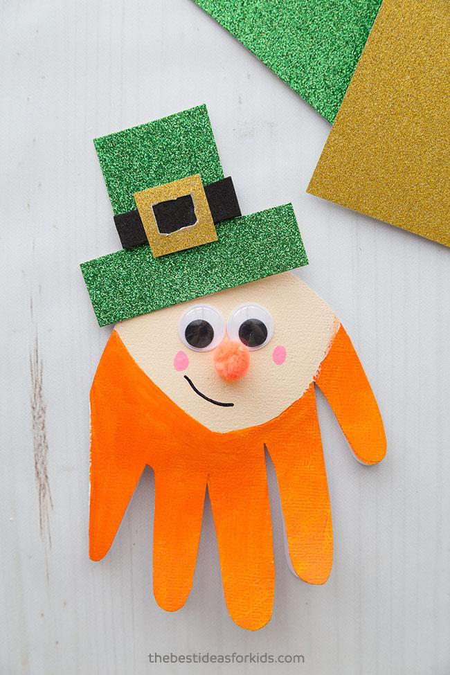Leprechaun Handprint Craft