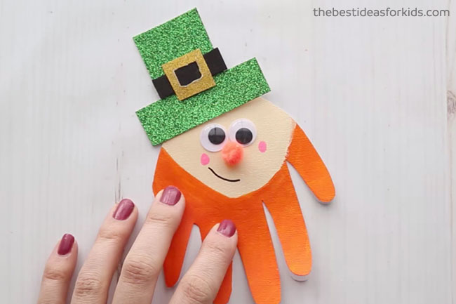 Leprechaun Handprint for St Patrick's Day
