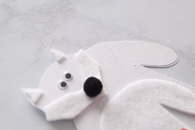Make Arctic Fox Handprint Card