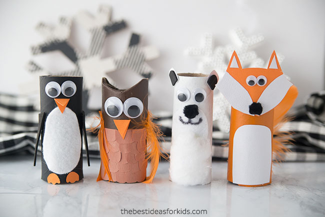 Paper Roll Winter Animals