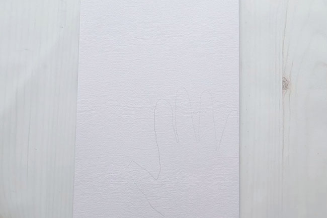 Trace Handprint on Cardstock