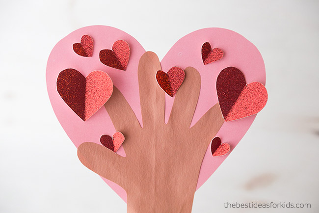 Valentine Handprint Heart Tree
