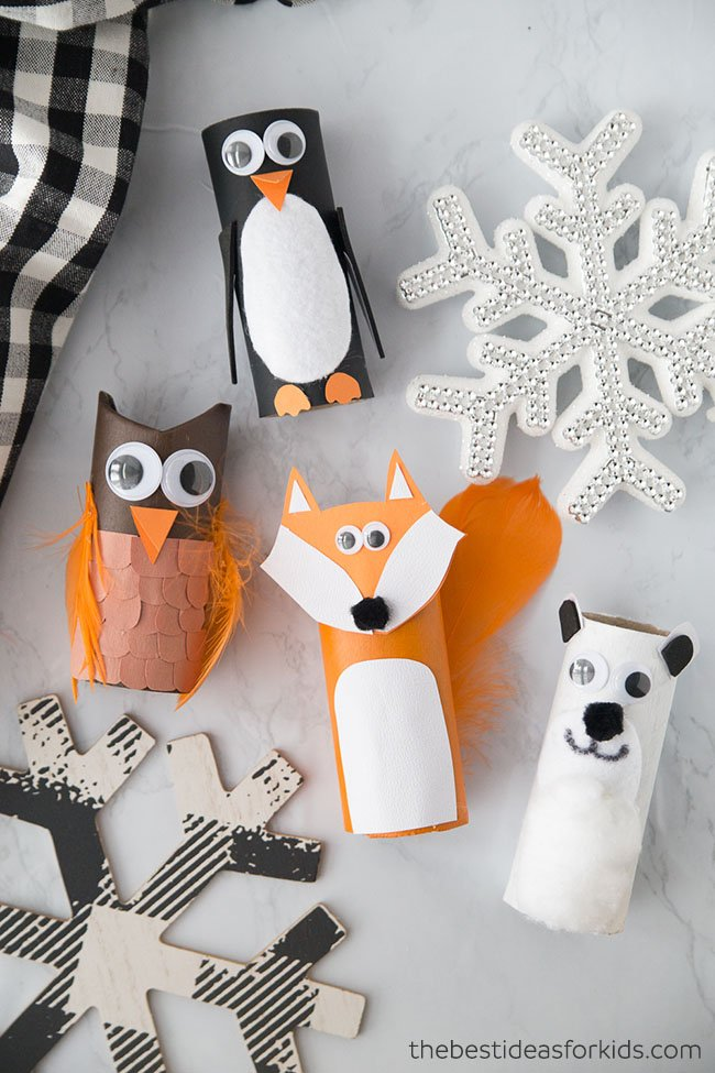 Winter Toilet Paper Roll Animals Craft
