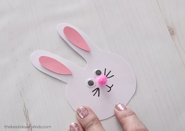 Bunny Craft Handprint Card