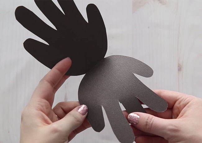 Cut out Sheep Handprint Card