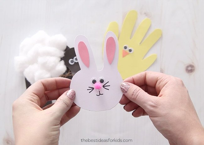 Easter Bunny Handprint Craft for Kids