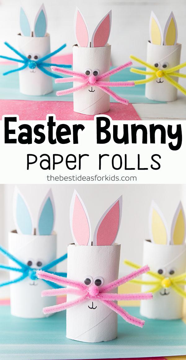 Easter Bunny Toilet Paper Rolls
