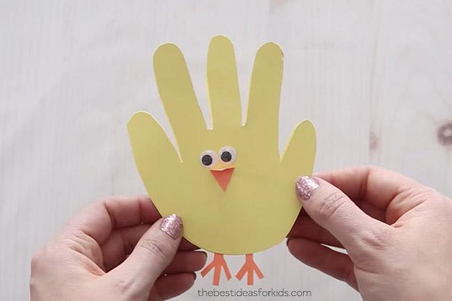 Easter Chick Handprint Card