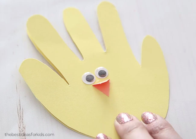 Easter Chick Handprint for Easter