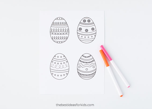 graphic regarding Printable Egg Template referred to as Easter Egg Template - The Simplest Strategies for Little ones
