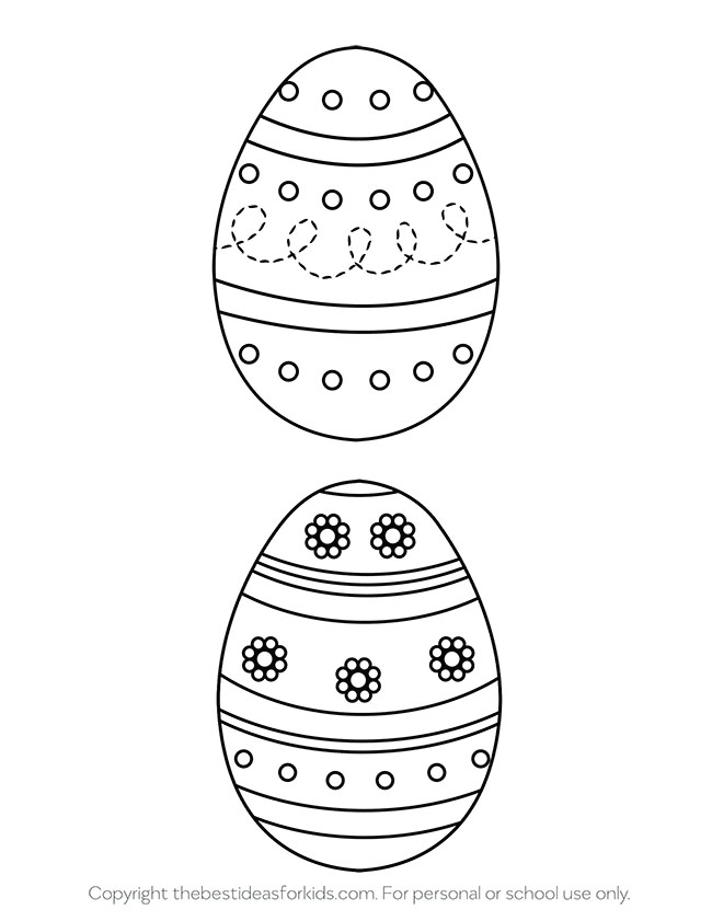 Easter Egg Templates 2 Large