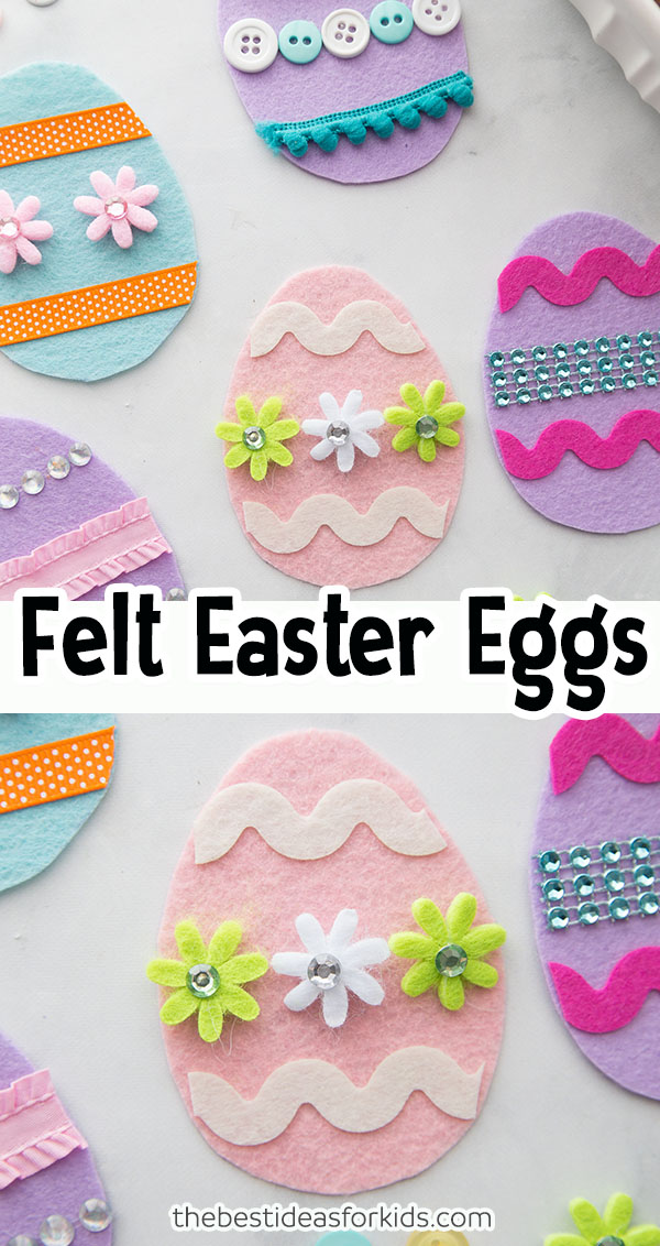 Felt Easter Eggs Easter Craft