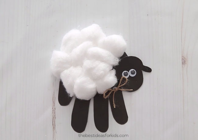 Handprint Sheep Card