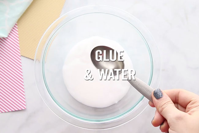 Add Glue and Water to make Bunny Slime