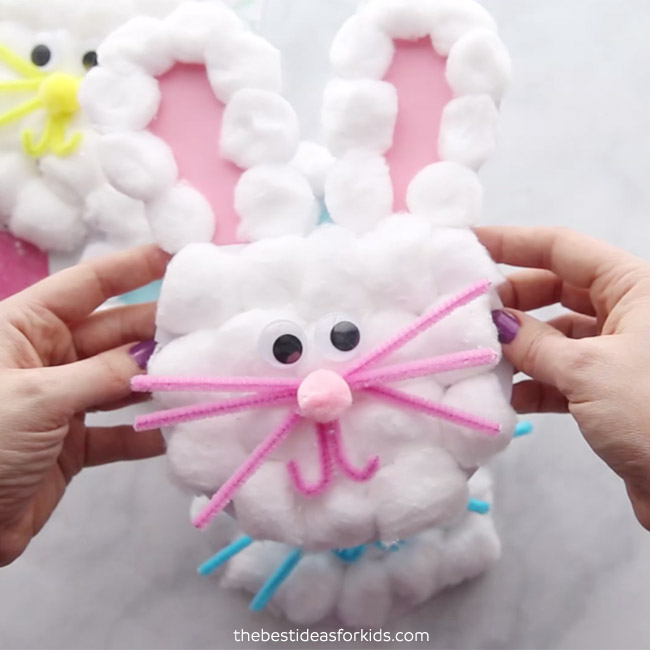 Bunny Card with cotton balls