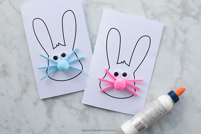 Easter Bunny Card Template