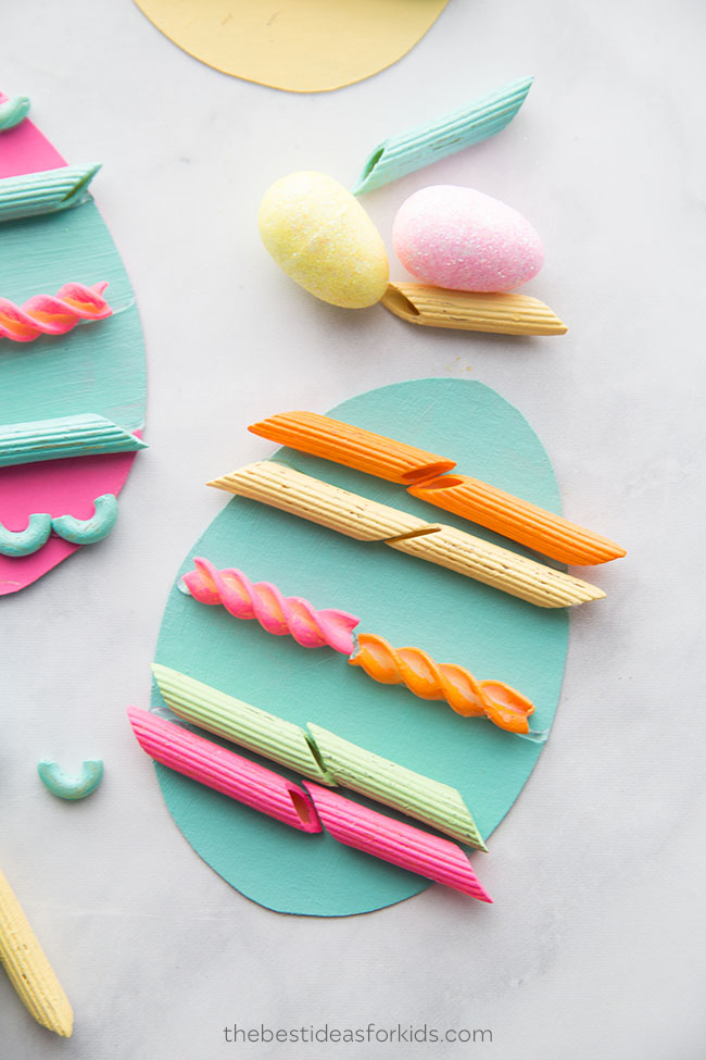 Easter Egg Pasta Craft