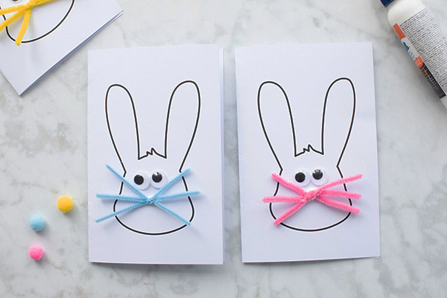 Glue Easter Bunny Eyes And Whiskers