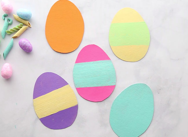 Paint Easter Egg Cardboard Templates