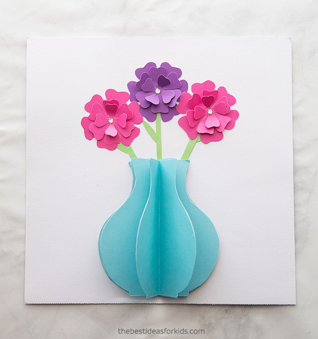 Easy 3D Paper Flowers Craft