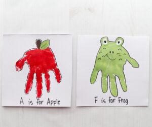 Handprint Alphabet
