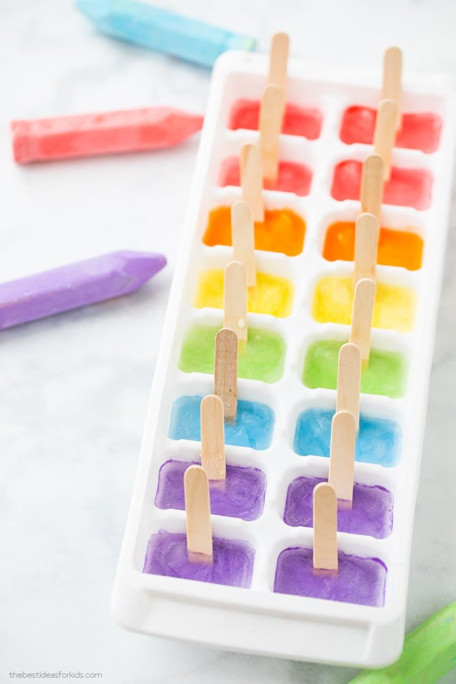 How to Make Sidewalk Chalk Ice