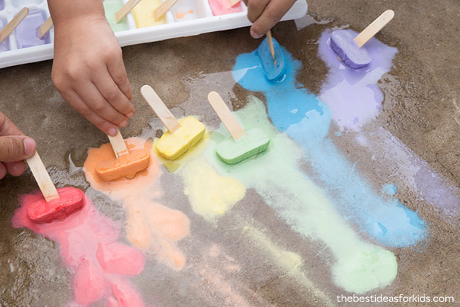 Sidewalk Chalk Ice Recipe